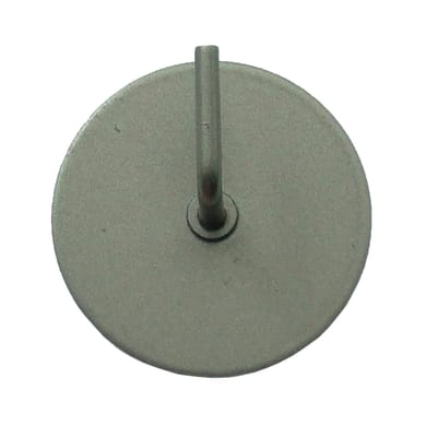 Supporto adesivo Ø25/28mm in acciaio acciaio satinato, 2 pezzi