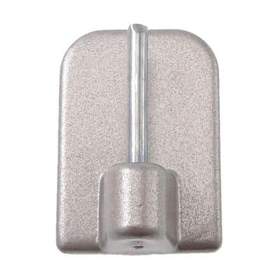 Supporto adesivo Ø8mm in metallo nichel satinato, 4 pezzi
