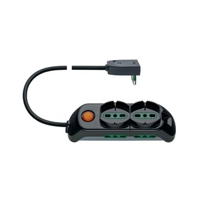 Multipresa con cavo e con protezione FP00521.C nero 6 prese