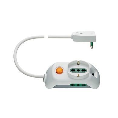 Multipresa con cavo e con protezione FP00511.L.B bianco 3 prese