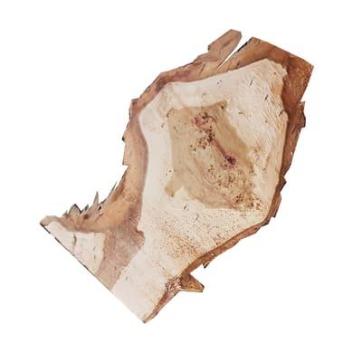 Sagoma decorativa triangolo in abete grezzo