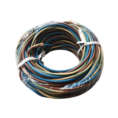 Cavo elettrico H07V-K marrone - blu - giallo/verde h07vk  3 fili x 1 mm² 10 m LEXMAN Matassa