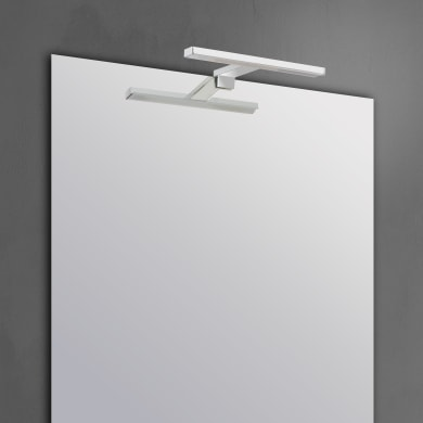 Applique Slim con kit multi attacco cromo, in alluminio, 50x8.2 cm, LED incassato 7.8W IP44 INSPIRE