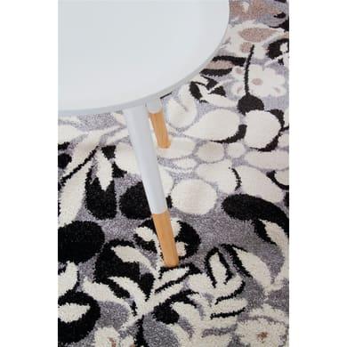 Tappeto Soave soft floreale , nero, 80x150