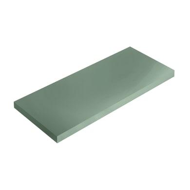 Mensola Spaceo L 36 x P 15.5 cm, Sp 1.8 cm verde