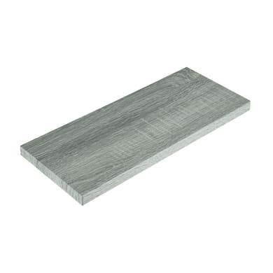 Mensola Spaceo L 96 x P 20 cm, Sp 2.2 cm rovere grigio