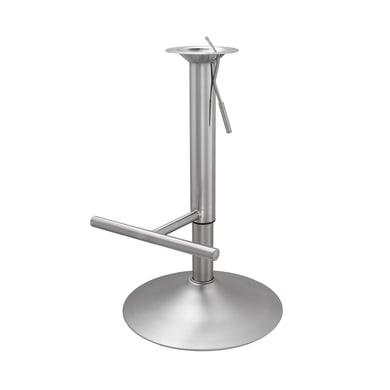 Base per sgabello in acciaio cromato da 9,5 cm