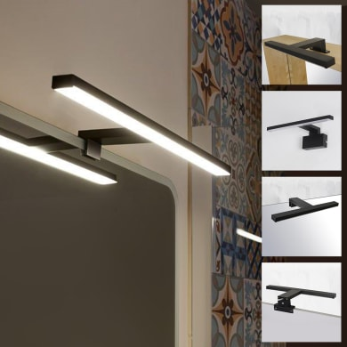 Applique Slim con kit multi attacco in alluminio, 50.0x8.2 cm, LED incassato 7.8W IP44 INSPIRE