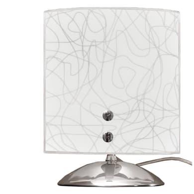 Lampada da comodino Classico Gemelli grigio, in metallo