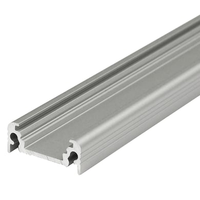 Profilo per strisce led, grigio / argento, 2 m