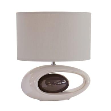 Lampada da comodino Classico Warren bianco, in ceramica