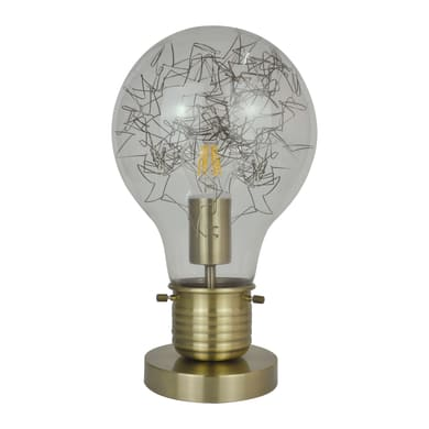 Lampada da comodino Bombilla trasparente, in vetro, E27 MAX 60W IP20 INSPIRE