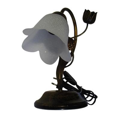 Lampada da comodino Brunito bianco, in vetro, E14 MAX 42W IP20