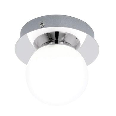 Faretto singolo Mosiano bianco, cromo, in vetro, LED integrato 3.3W 340LM IP44 EGLO