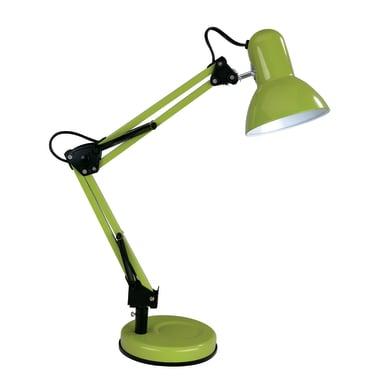 Lampada da scrivania flessibile Ennis verde, in metallo, E27 MAX40W IP20 INSPIRE