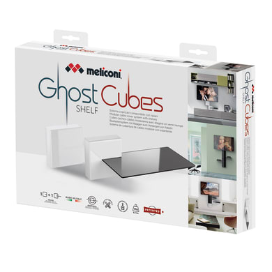 Copricavi Ghost cubes shelf plastica
