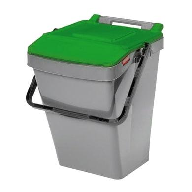 Pattumiera Easy Twin manuale verde 30 L