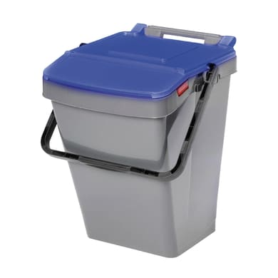 Pattumiera Easy Twin manuale blu 30 L