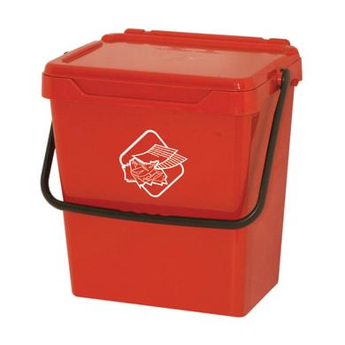 Pattumiera manuale rosso 30 L