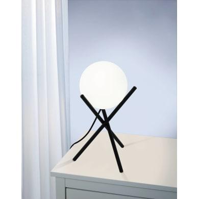 Lampada da tavolo CASTELLATO nero<multisep/>bianco, in metallo, EGLO