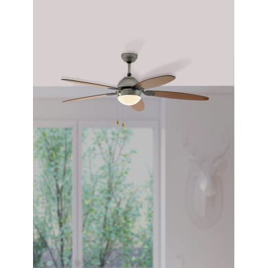 Ventilatore da soffitto Susale, satinato nickel, D. 132 cm