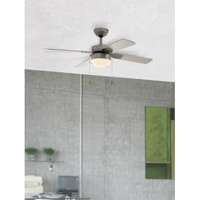 Ventilatore da soffitto Gelsina, satinato nickel, D. 106.6 cm