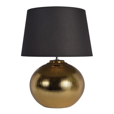 Lampada da tavolo Glamour Ibiza oro, in ceramica