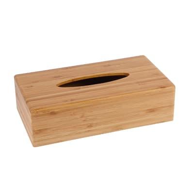 Porta fazzoletti con coperchio Bamboo legno chiaro
