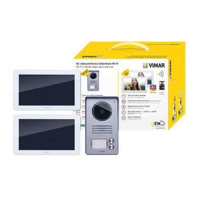 Videocitofono wireless monofamiliare  ELVOX VIMAR Kit Video 7in TS WiFi 2F alim. DIN 2 fili