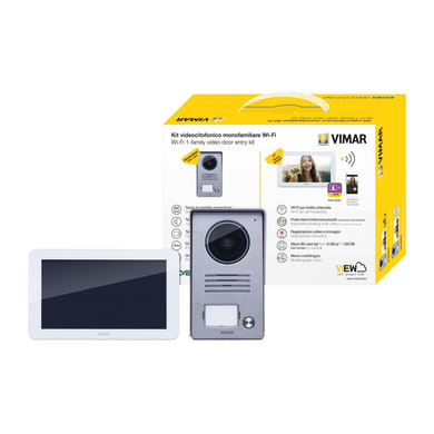 Videocitofono wireless monofamiliare  ELVOX VIMAR Kit Video 7in TS WiFi 1F alim. DIN 2 fili