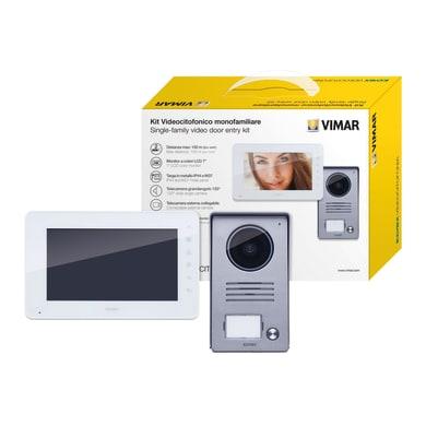 "Videocitofono ip monofamiliare  ELVOX VIMAR KIT Video 7"" monof. alim. DIN 2 fili"