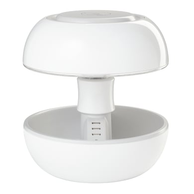 Lampada da tavolo Design Joyo bianco, in plastica