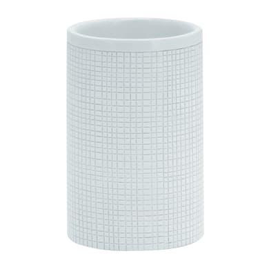 Bicchiere porta spazzolini Next in resina bianco