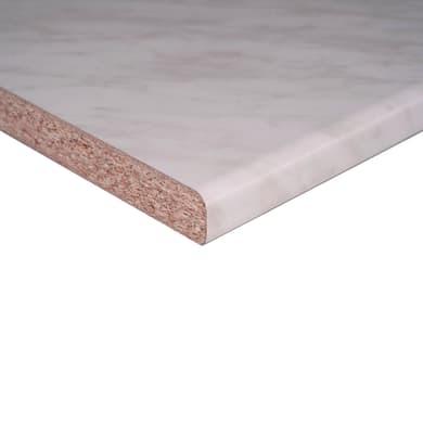 Piano di lavoro marmo carrara L 246 x H 60 cm, spessore 2.8 cm