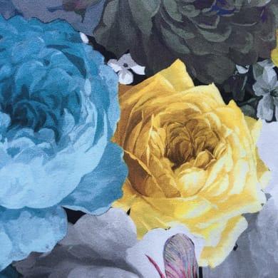 Tessuto Floures azzurro 140 cm