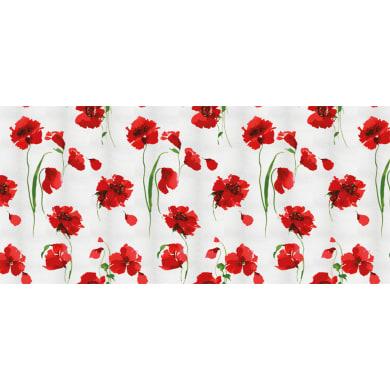 Tessuto al taglio Coquelicot bianco/rosso 140 cm