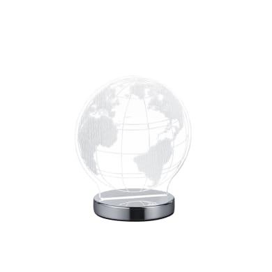Lampada da tavolo Moderno Lampada FUN Mondo cromato lucido, in acrilico
