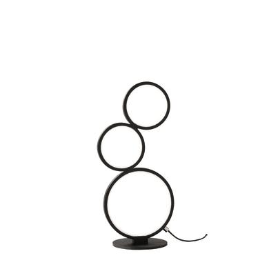 Lampada da tavolo Moderno Rondo cromato opaco , in metallo
