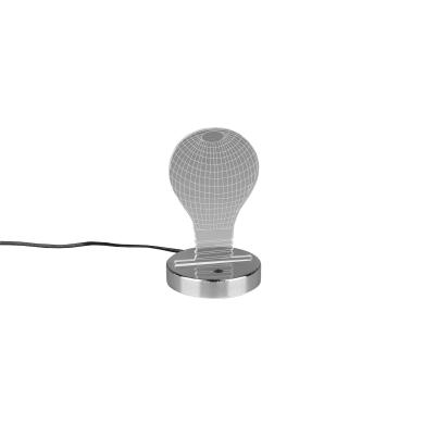 Lampada da comodino Moderno Bulb cromato lucido , in acrilico