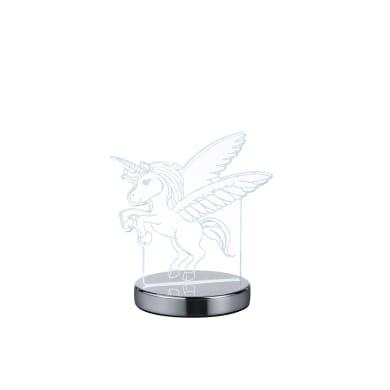 Lampada da tavolo Moderno Lampada FUN Unicorno cromato lucido, in acrilico