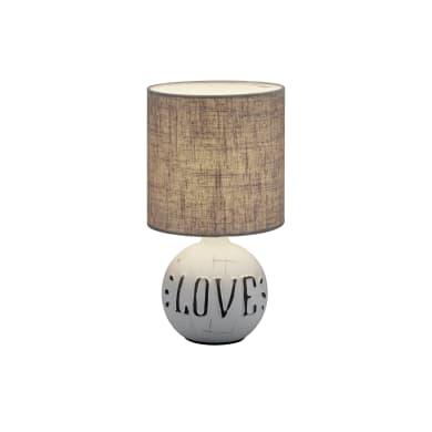 Lampada da tavolo Classico Chic ESNA LAMPADA TAVOLO CERAMICA LOVE beige, in ceramica, REALITY
