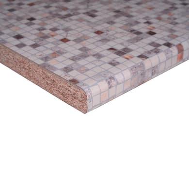 Piano di lavoro crema Bisanzio L 304 x P 60 cm, spessore 3.8 cm