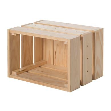 Scatola da montare Home Box L 25.6 x H 28 x P 38.4 cm beige e bianco