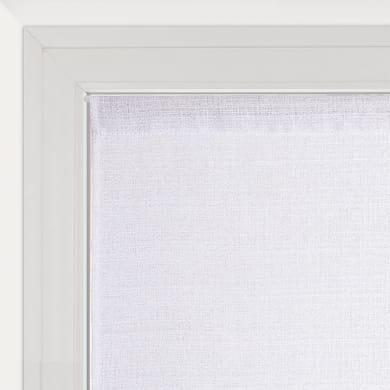 Tendina vetro Lazaro bianco e argento tunnel 60 x 120 cm