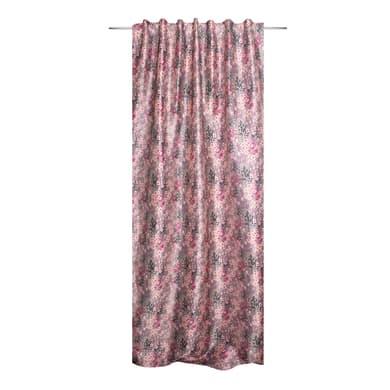 Tenda Liling rosa fettuccia con passanti nascosti 140 x 280 cm