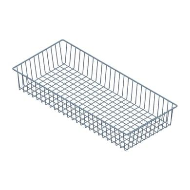Cesta Element System in metallo 80 x 12 x 35 cm grigio / argento