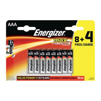 Pila LR03 AAA 1.5 V ENERGIZER MAX 8+4 12 batterie