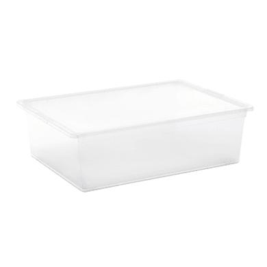Contenitore C-Box L 55 x H 16.5 x P 38.5 cm trasparente