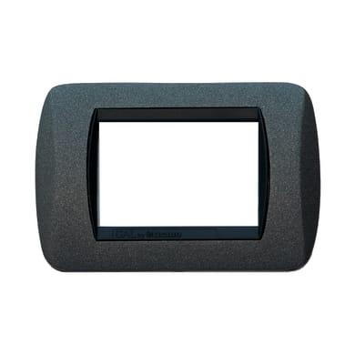 Placca CAL Living International 3 moduli grigio ardesia opaco compatibile con living international
