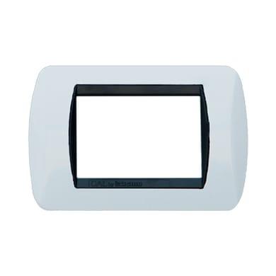Placca CAL Living International 3 moduli bianco bianco compatibile con living international
